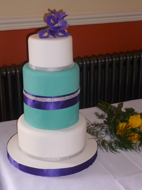 wedding cakes turquoise and purple wedding cake in purple and turquoise the merry 25793