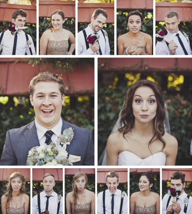 Wedding party montage