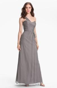 Amsale One Shoulder Silk Gown, from nordstrom.com