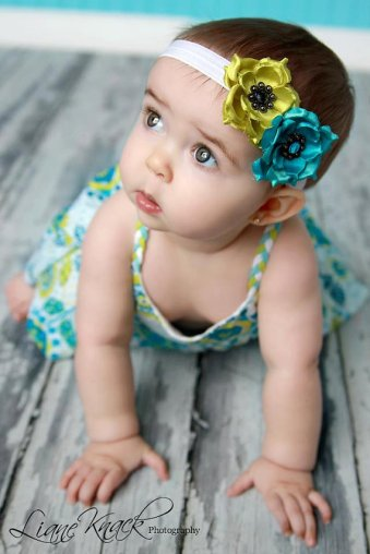 Baby flower girl headband, by bellasbowtique2008 on etsy.com