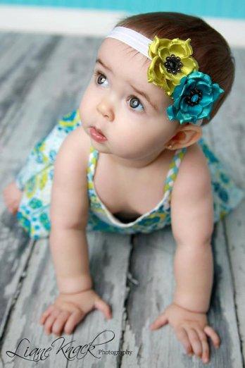 Baby flower girl headband, by bellasbowtique2008 on etsy.com