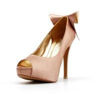 Blush wedding heels, by ChristyNgShoes on etsy.com