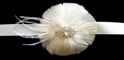 Bridal sash, by kathyjohnson3 on etsy.com