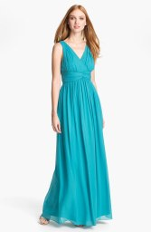Donna Morgan 'Julie' Twist-Waist Silk Chiffon Gown, from nordstrom.com