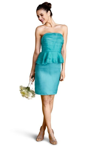 Donna Morgan Tiered Peplum Silk Sheath Dress, from nordstrom.com