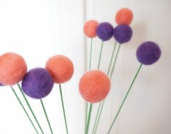 Felt flower decorations, by SoftTear on etsy.com