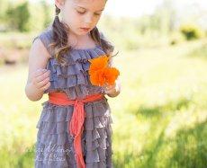 Flower girl dress, by EverythingRuffles on etsy.com