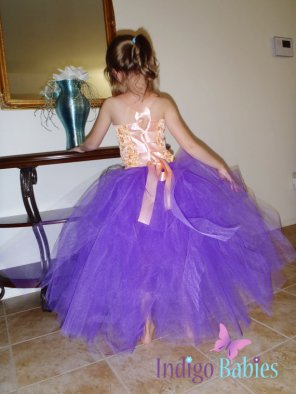 Flower girl tutu dress, by indigobabies on etsy.com