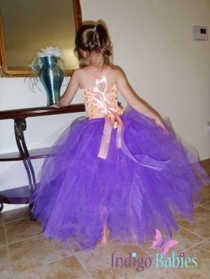 Flower girl tutu dress, by indigobabies on etsy.com