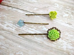 Hair pins, by FlowerCouture on etsy.com