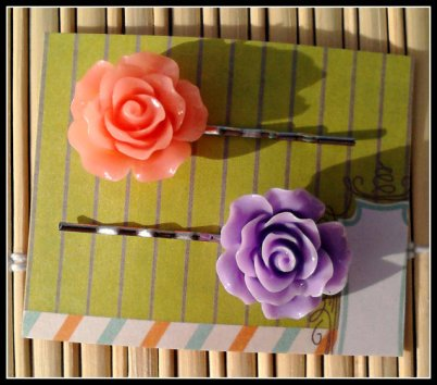 Hair pins, by LilGreenShak on etsy.com