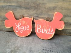Hanging lovebirds, by SassySouthernCharm on etsy.com