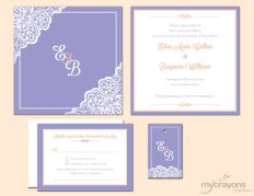 Invitation, by MyCrayonsPapeterie on etsy.com