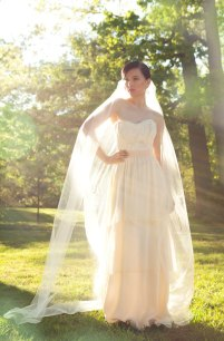 Ivory and blush wedding dress, by rschone on etsy.com