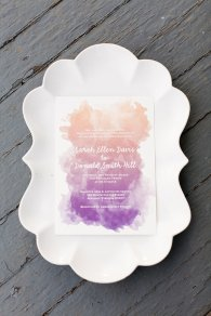 Ombre invitation, by paperfreckles on etsy.com