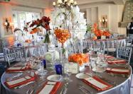 Orange and grey reception