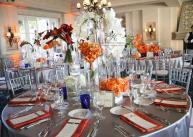 Orange and grey reception