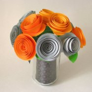 Paper flower bouquet, by PaintedPearStudio on etsy.com