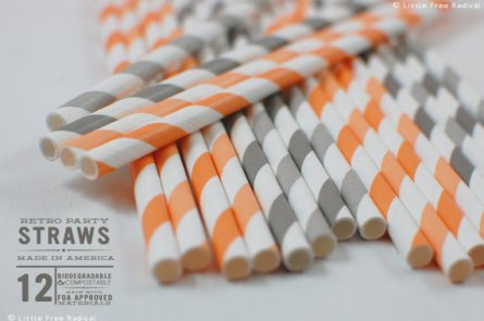 Paper straws, by LittleFreeRadical on etsy.com