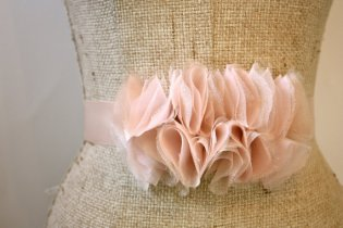 Ruffled sash, by ProjectU on etsy.com