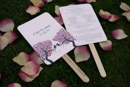 Wedding ceremony programmes, by Lolerfly on etsy.com