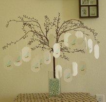 Wedding wish-tree tags, by CraftZany on etsy.com