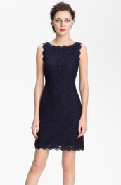 Adrianna Papell Boatneck Lace Sheath Dress, from nordstrom.com