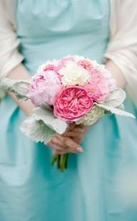 Aqua and pink colour scheme