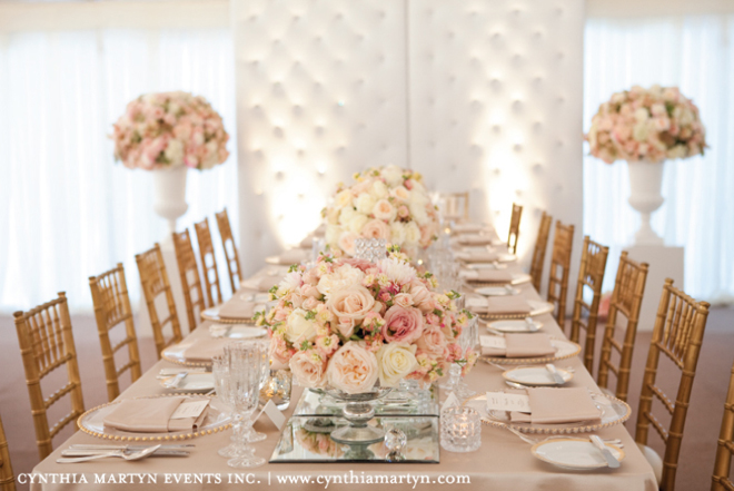Blush and gold table setting | The Merry Bride