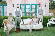 Bridal party in The Great Gatsby theme