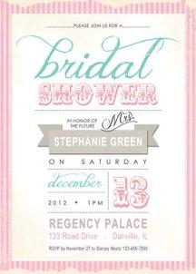 Bridal shower invitation, by BricieTrogliaDesign on etsy.com