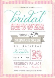 Bridal shower invitation, by BricieTrogliaDesign on etsy.com