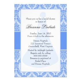 Bridal shower invitation, from zazzle.com