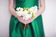 Bridesmaid in emerald