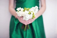Bridesmaid in emerald