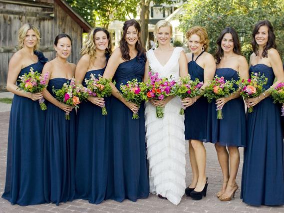 Midnight Blue Wedding Inspiration The Merry Bride