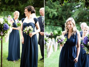 Bridesmaids in midnight-blue