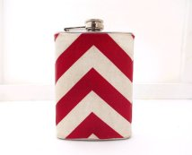 Chevron flask (gift idea for groomsmen), by CameronsJewelryBox on etsy.com