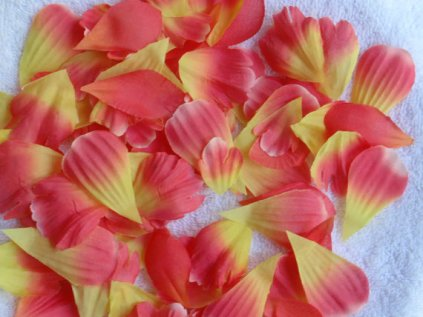 Decorative silk rose petals, by superbuy4j on etsy.com