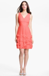 Donna Morgan 'Eloise' Ruffle Chiffon Fit and Flare Dress, from nordstrom.com
