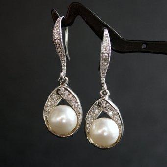 Earrings, by poetryjewelry on etsy.com