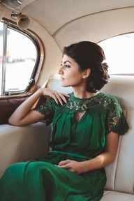 Emerald bridal gown