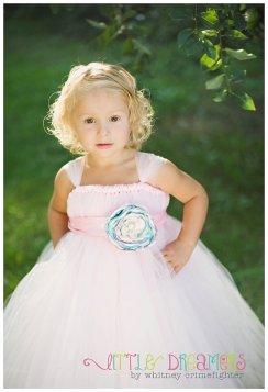 Flower girl tutu dress, by littledreamersinc on etsy.com