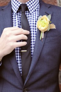 Gingham shirt with suit