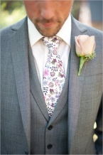 Grey suit with floral tie