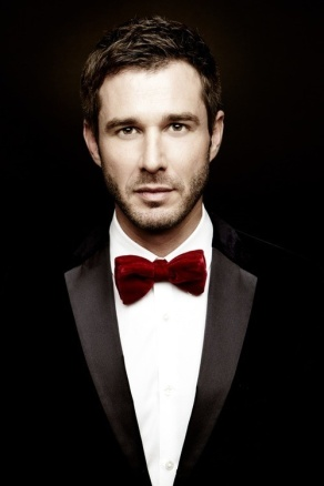 Groom with a red bow-tie