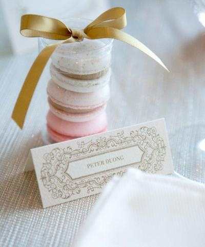 Wedding Favor Boxes For Macarons : Macaron wedding favours The Merry Bride