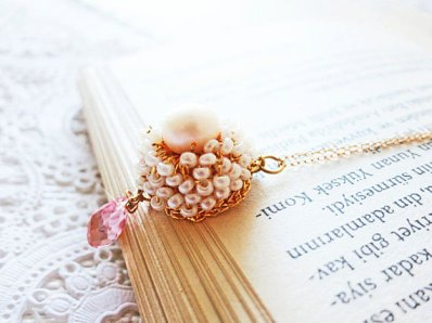 Necklace, by PearlJewelryNecklace on etsy.com