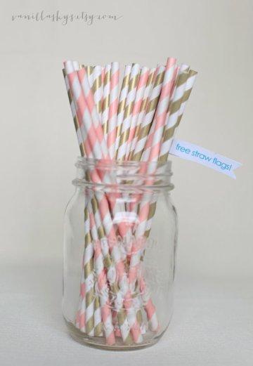 Paper straws, by VanillaSkys on etsy.com