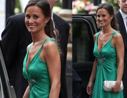 Pippa Middleton in an emerald gown